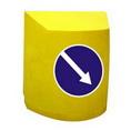 Пластиковый дорожный разделительный буфер (водоналивное дорожное ограждение)